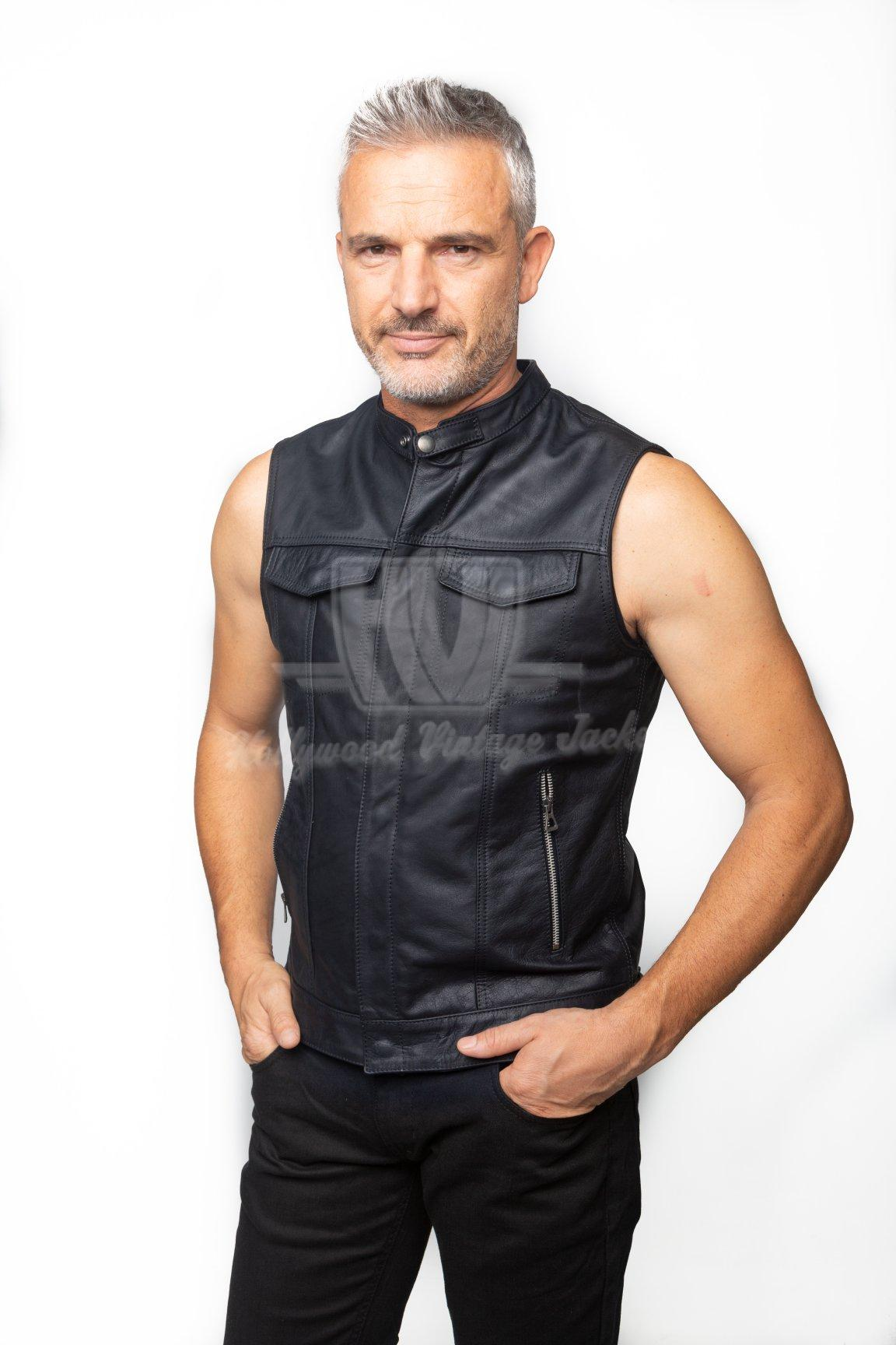 Sons Of Anarchy Leather Vest Jax Teller With Without Patches Hollywood Vintage Jacket
